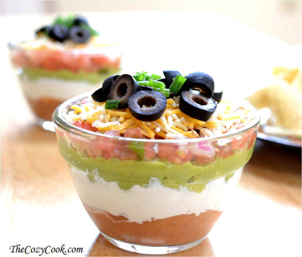 7 Layer Taco Dip Cups