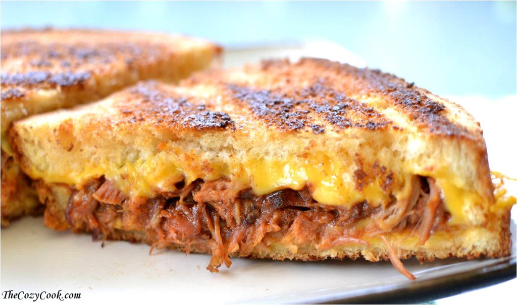 Browned Butter Pulled Pork Grilled Cheese 2