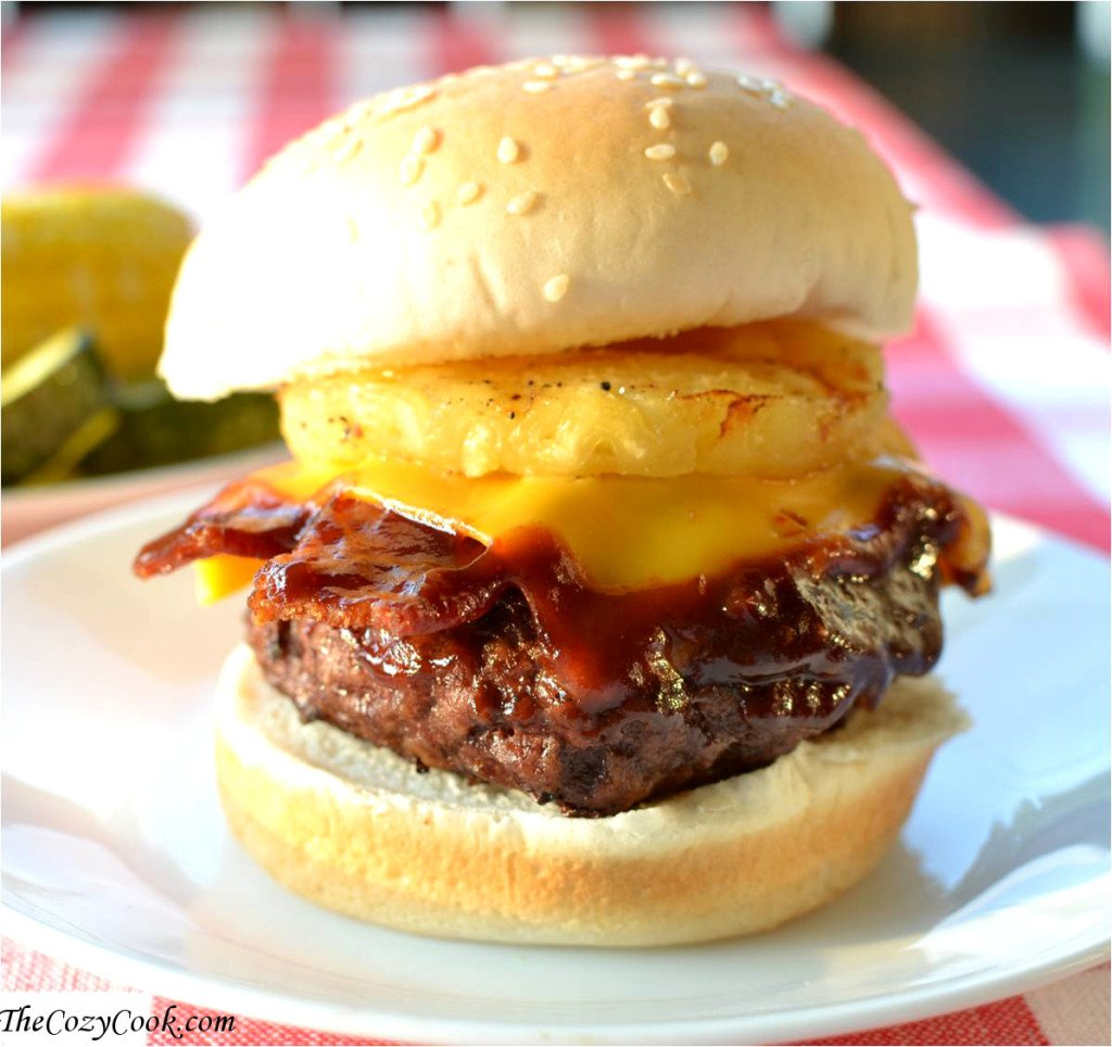 Hawaiian BBQ Bacon Cheeseburger