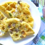 Waffle Iron Omelettes