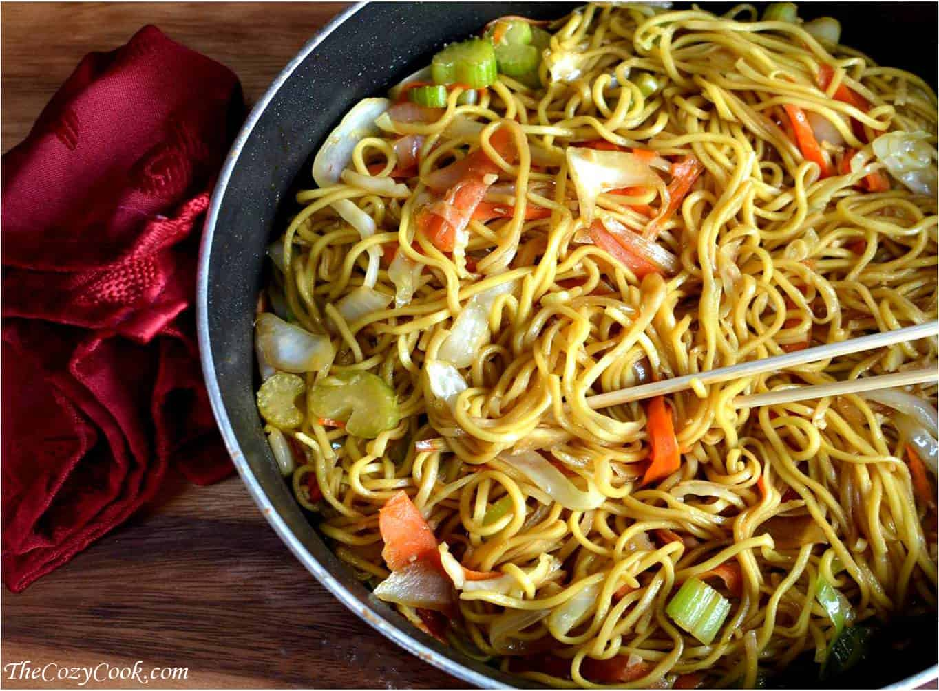 copycat panda express chow mein the cozy cook bloglovin. Black Bedroom Furniture Sets. Home Design Ideas