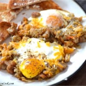 Crispy Hash and Eggs Breakfast Skillet