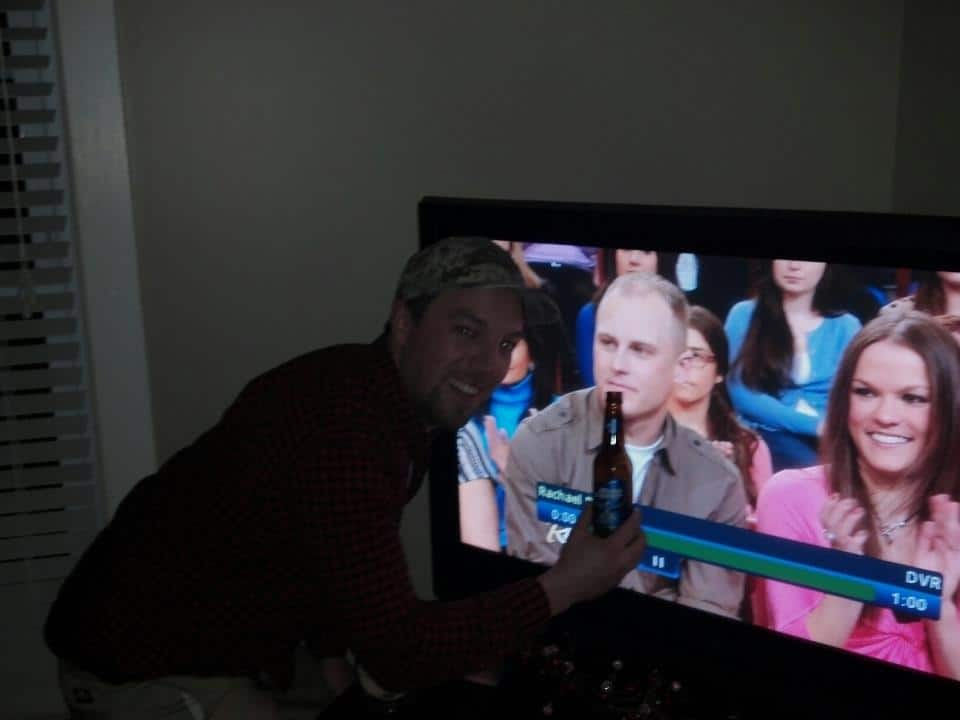 Mark on the TV