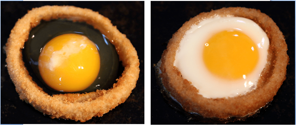 Onion Ring Baked Egg