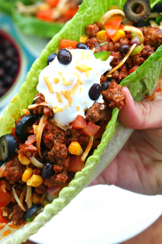 Turkey Taco Lettuce Wraps Recipe — Dishmaps