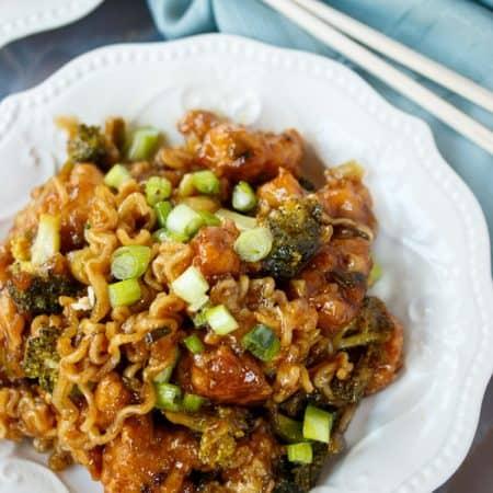 Ramen Noodle General Tso's Chicken