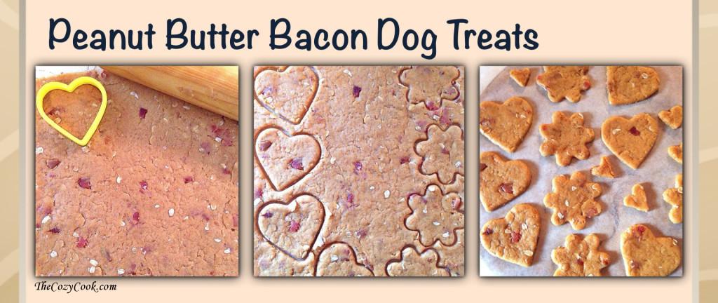 Peanut butter bacon dog treats 2