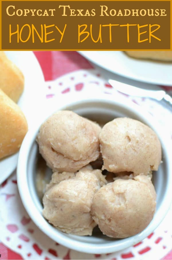 This Copycat Texas Roadhouse butter is a perfect blend of sweet and salty and pairs perfectly with your favorite dinner rolls.  | The Cozy Cook | #texasroadhouse #butter