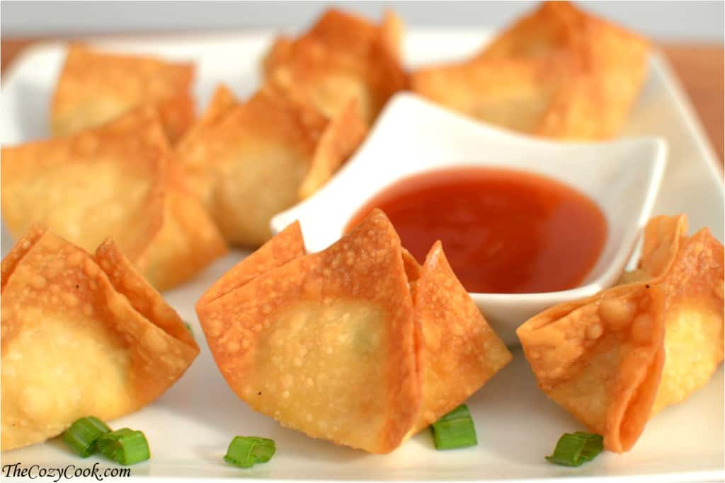 Crispy Crab Rangoon The Cozy Cook