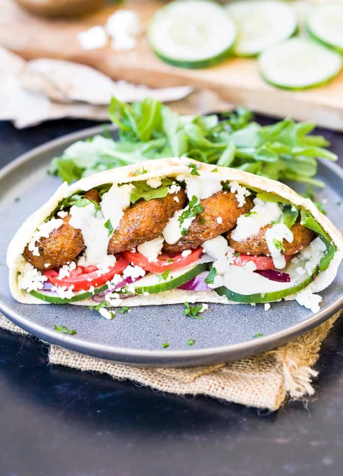 Homemade Falafel Wraps The Cozy Cook