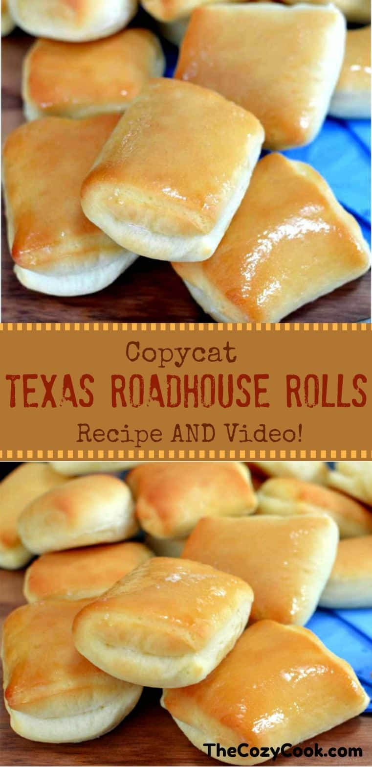 These sweet and buttery Copycat Texas Roadhouse rolls are just like from the restaurant itself! They have a hint of sweetness and pair perfectly with homemade honey butter. | The Cozy Cook| #TexasRoadhouse #DinnerRolls