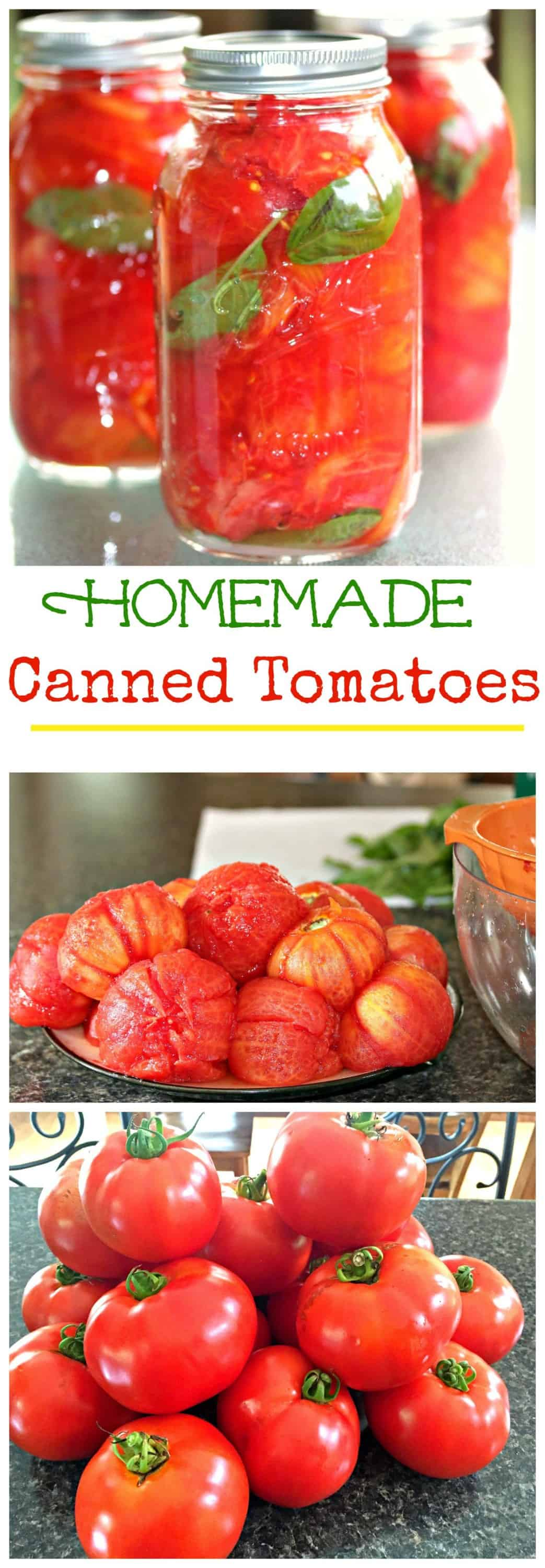 These homemade canned tomatoes are the best way to keep your garden tomatoes fresh and ready to eat and cook with all year long! #cannedtomatoes #tomatoes #gardening #vegetables #canning #healthy #fresh