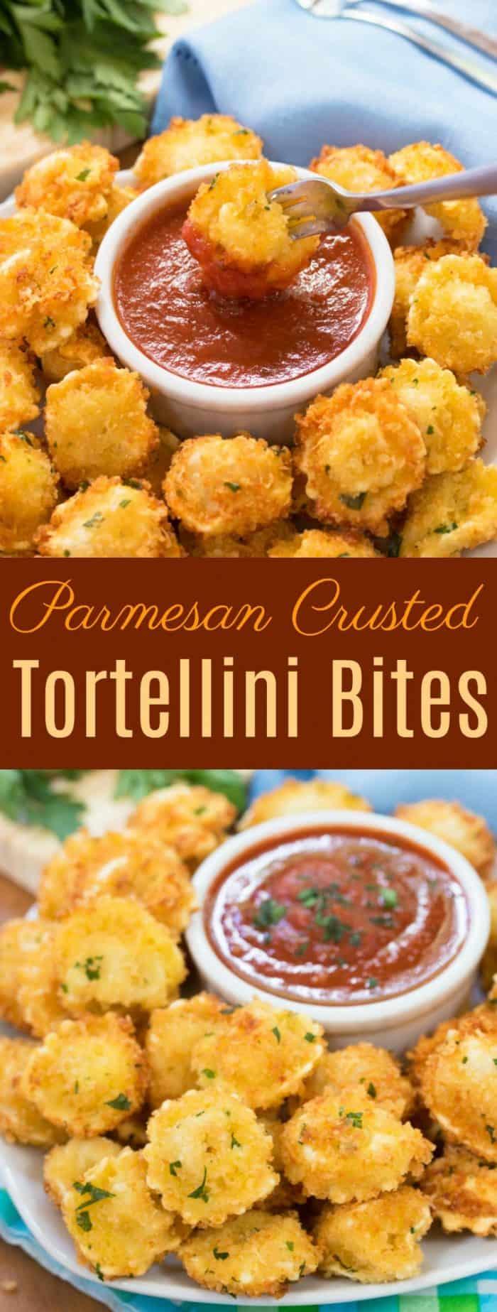 Parmesan Crusted Tortellini Bites