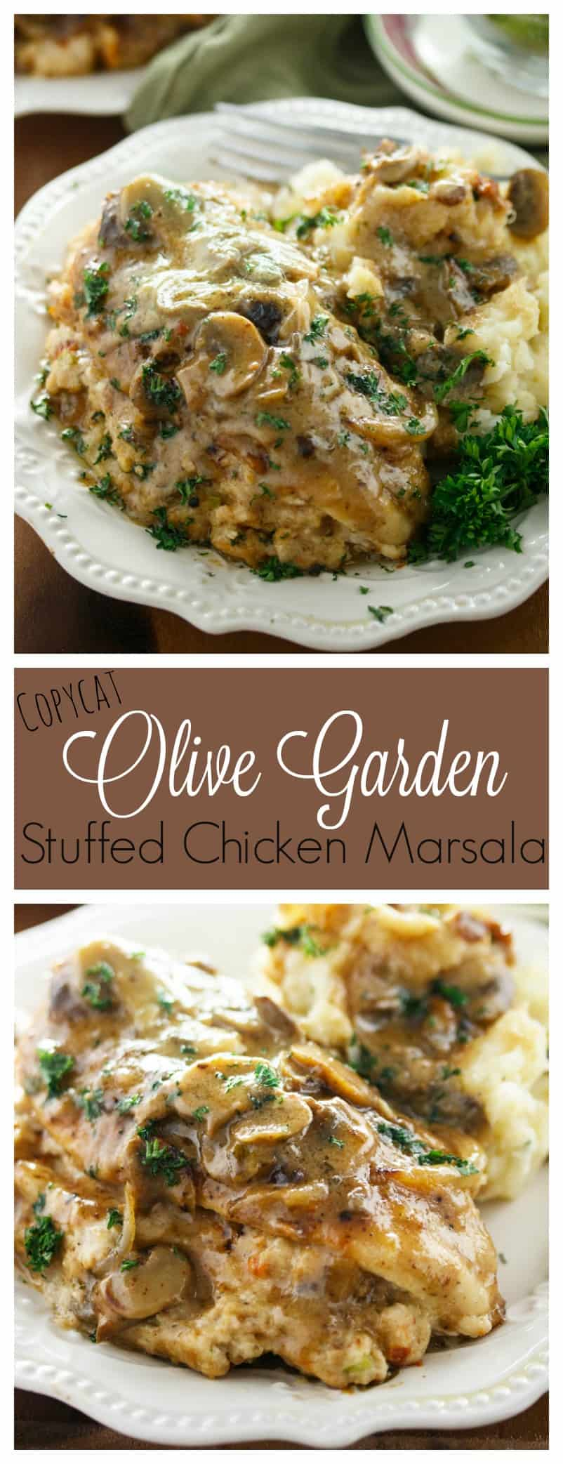 Olive Garden Stuffed Chicken Marsala - The Cozy Cook