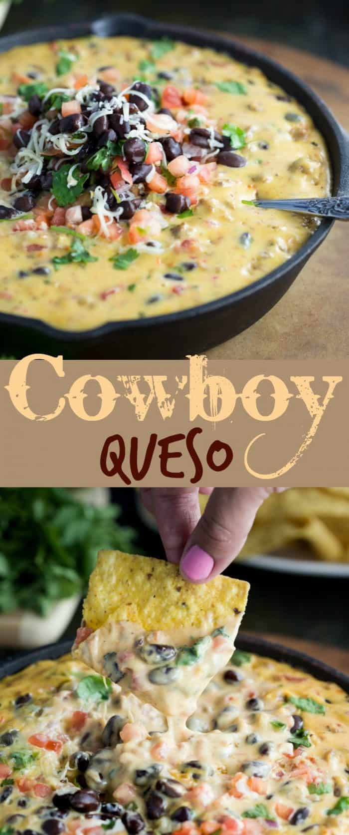 A warm and savory queso dip with your favorite ale, ground beef, tomatoes, black beans, and fresh cilantro. | The Cozy Cook | #dip #appetizer #football #mexican #cheese #gameday #queso #blackbeans #beef #recipe #fingerfood #easyrecipes #partyfood #snacks