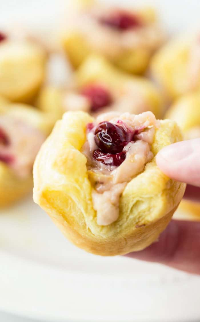 Sweet Cream Cheese Cranberry Tartlets