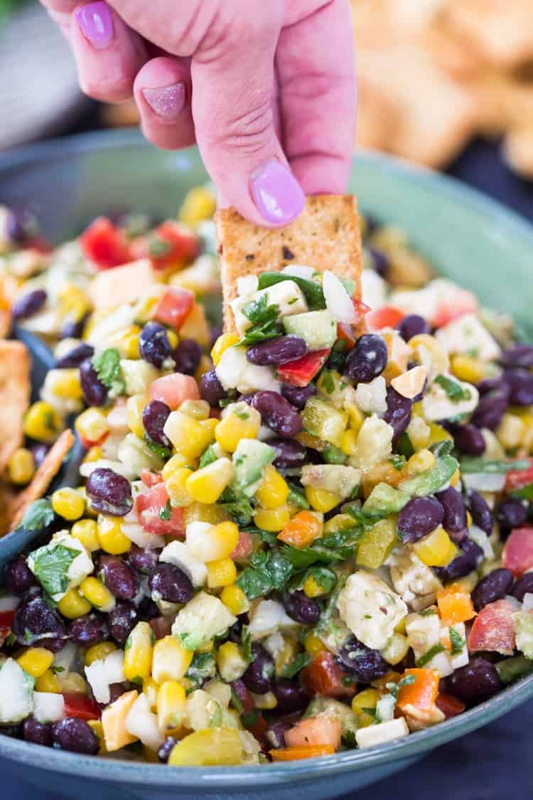 Southwest Vegetable Dip The Cozy Cook