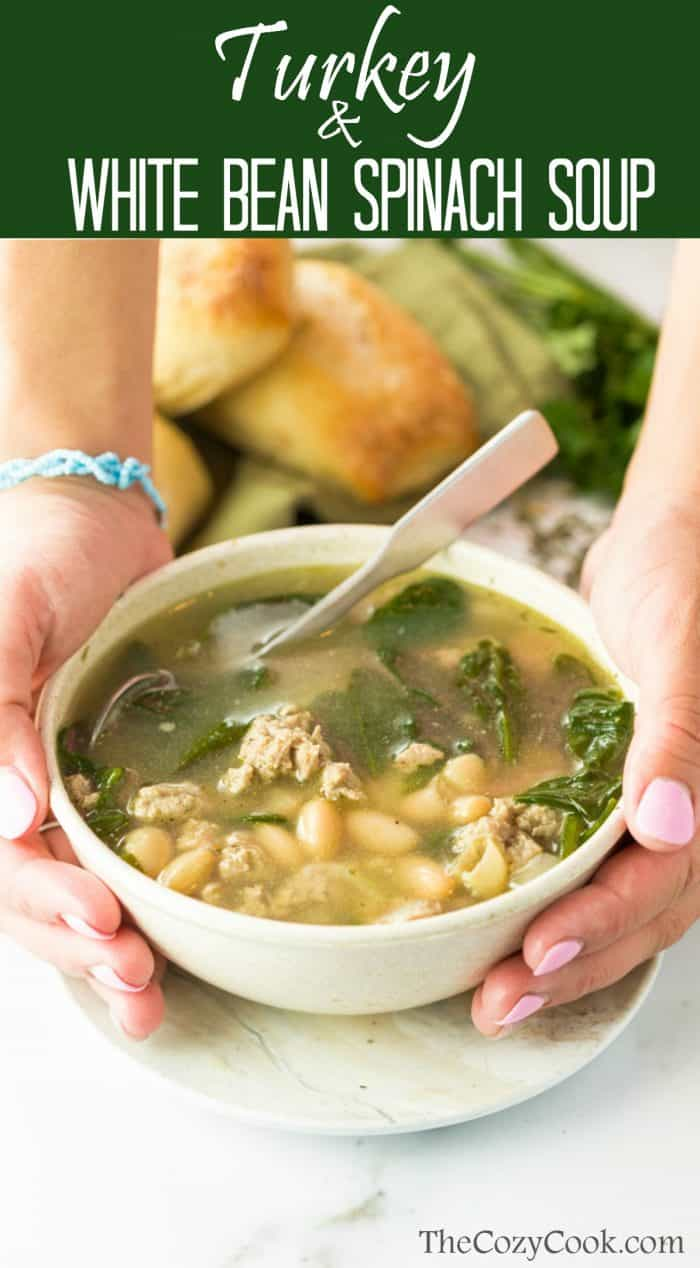 Turkey and White Bean Spinach Soup