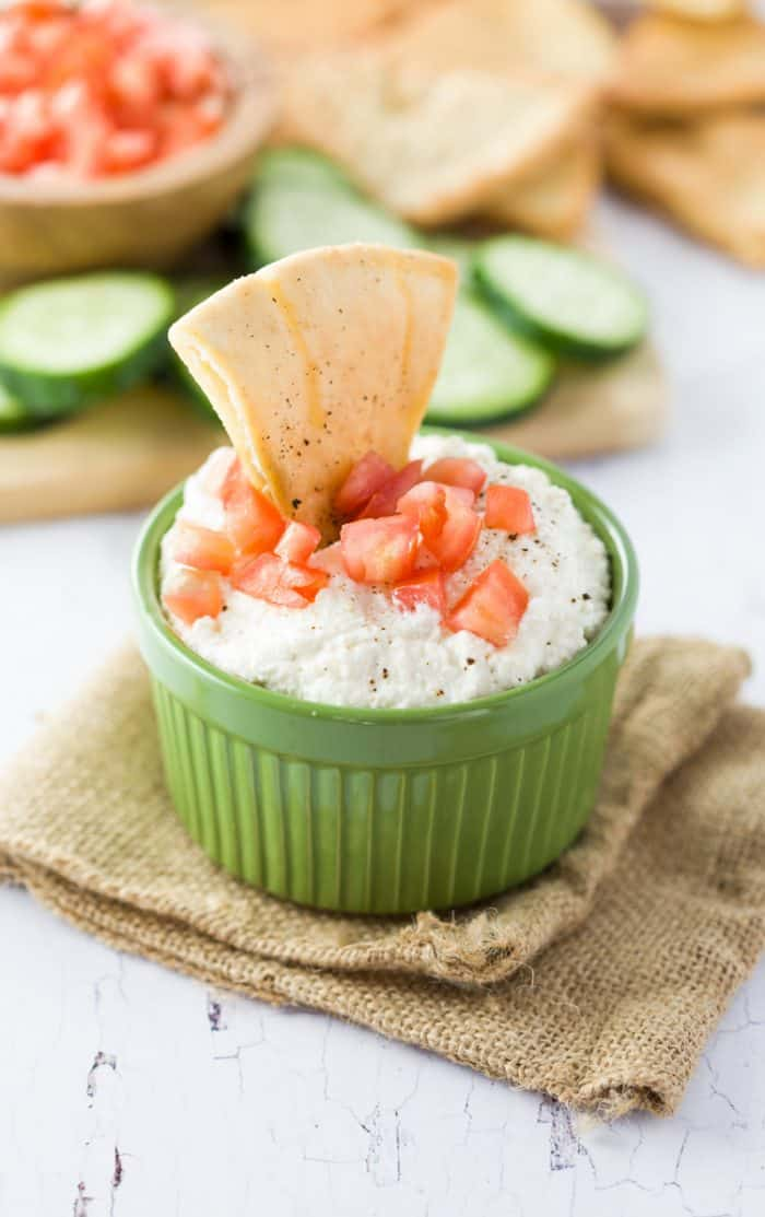 Feta-Dip-with-homemade-pita-chips