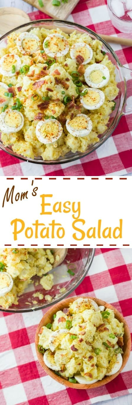 This easy potato salad recipe includes tips for perfectly boiled potatoes and eggs, along with a homemade potato salad dressing mixture from my mom and hers! | The Cozy Cook | #PotatoSalad #Potatoes #Eggs #Easter #EggSalad #SideDishes #Recipe #SummerRecipes