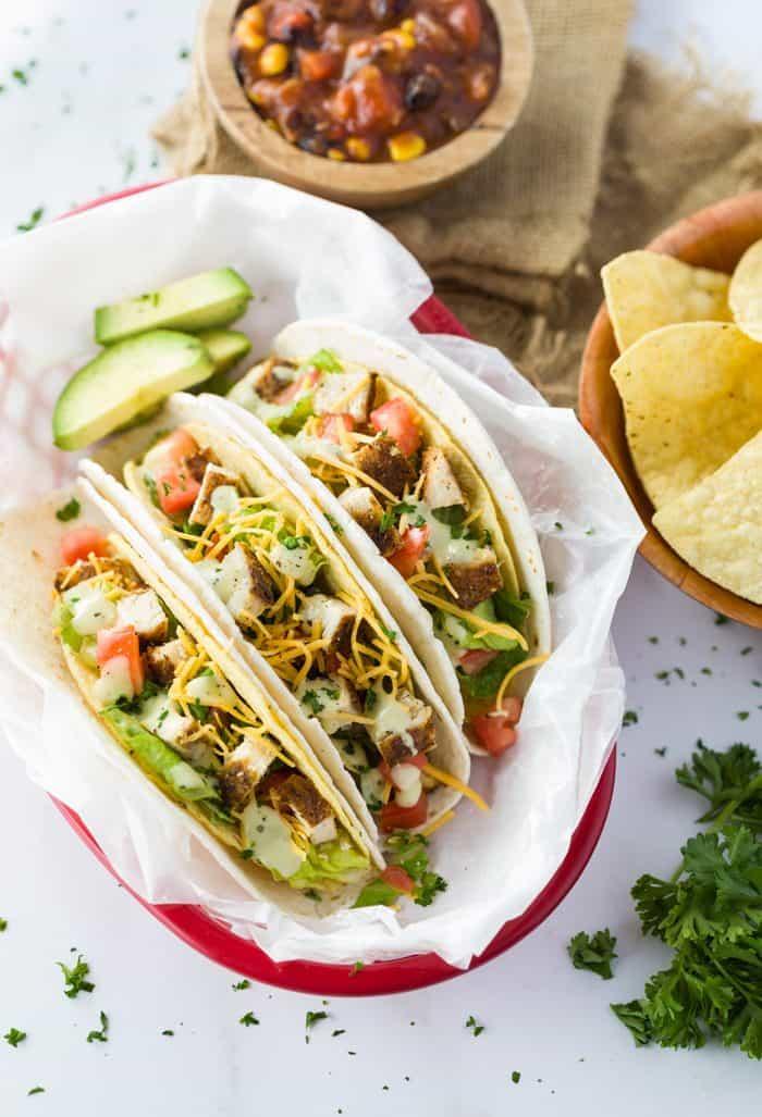 Cajun Chicken Tacos