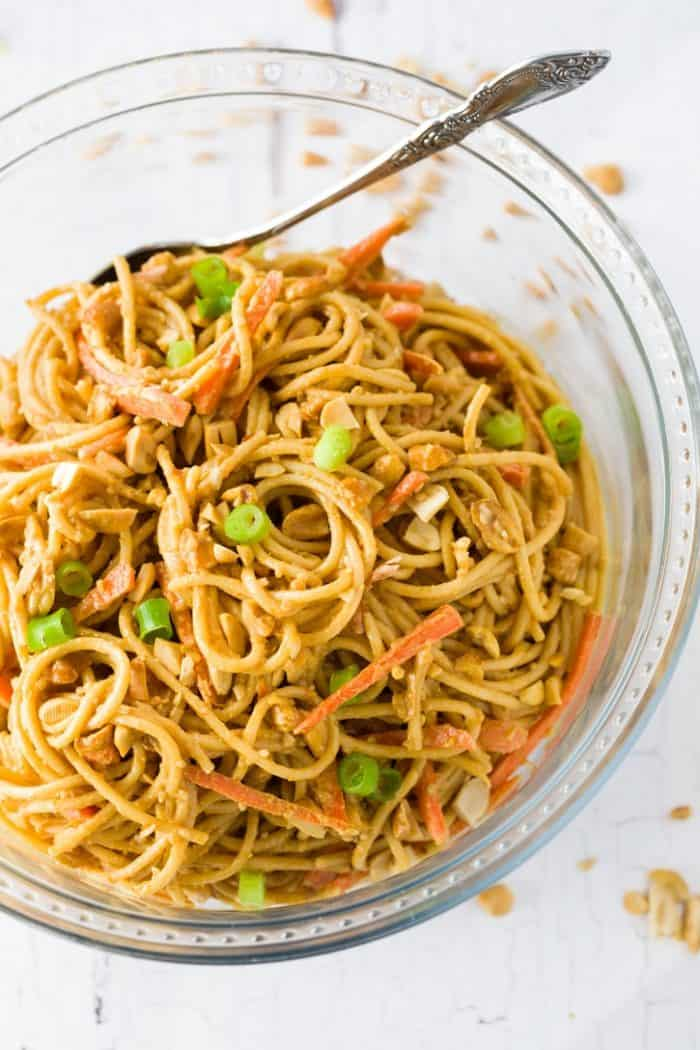 Cold Noodles in Peanut Sauce