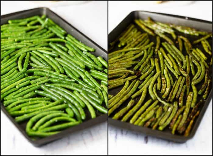 Before and After: Roasted Green Beans
