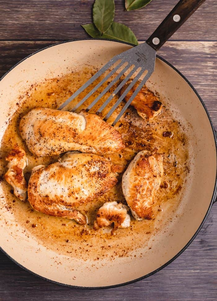 Chicken Seared in a pan