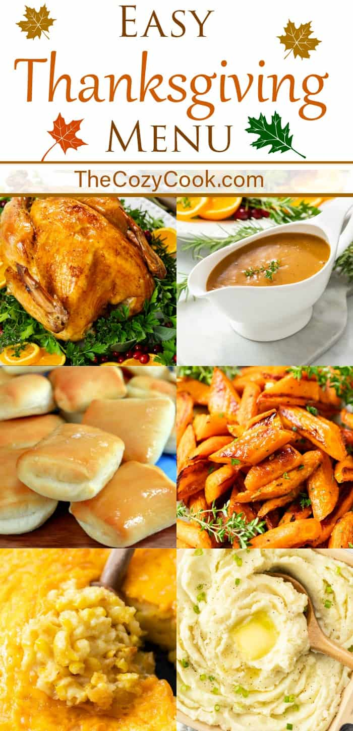 A collage of Thanksgiving recipes.
